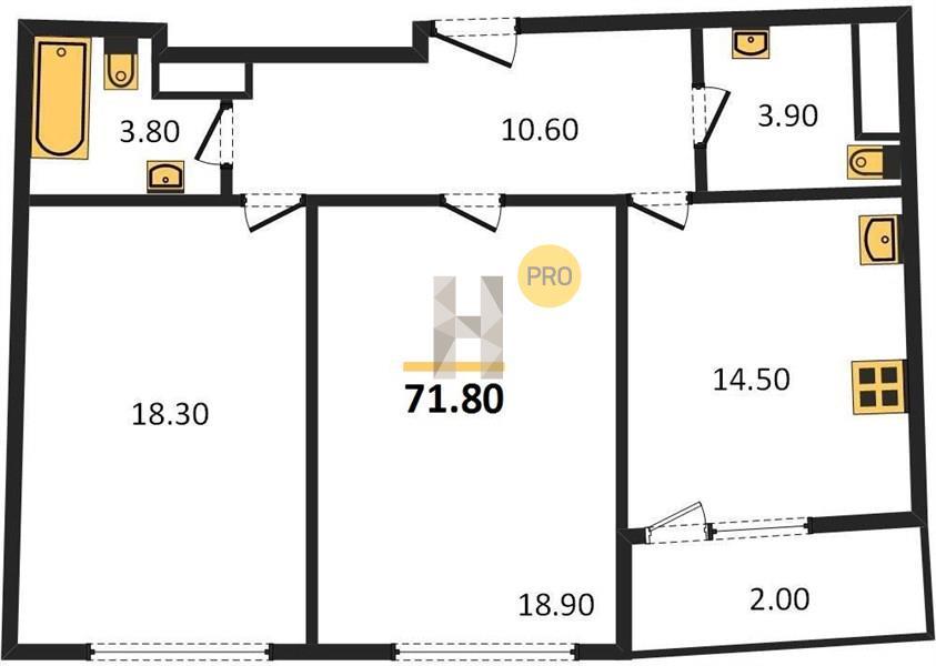 2-комнатная квартира в ЖК Серебряный парк