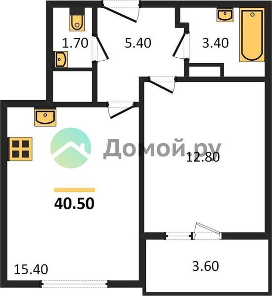 1-комнатная квартира в ЖК Изумрудные холмы