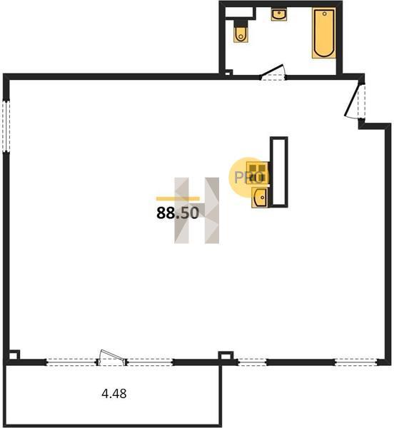 3-комнатная квартира в ЖК Загородный квартал