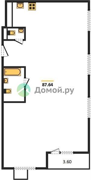 3-комнатная квартира в ЖК Лесопарковый