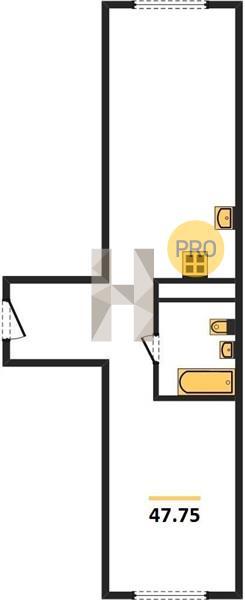 1-комнатная квартира в ЖК Селигер Сити
