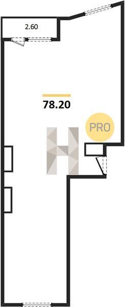 2-комнатная квартира в ЖК Царская площадь
