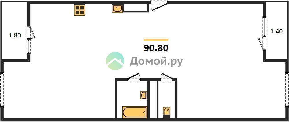 3-комнатная квартира в ЖК Влюберцы